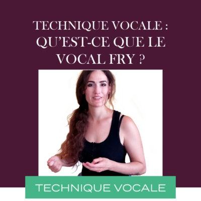 Technique vocale : Qu'est-ce que le vocal fry ?