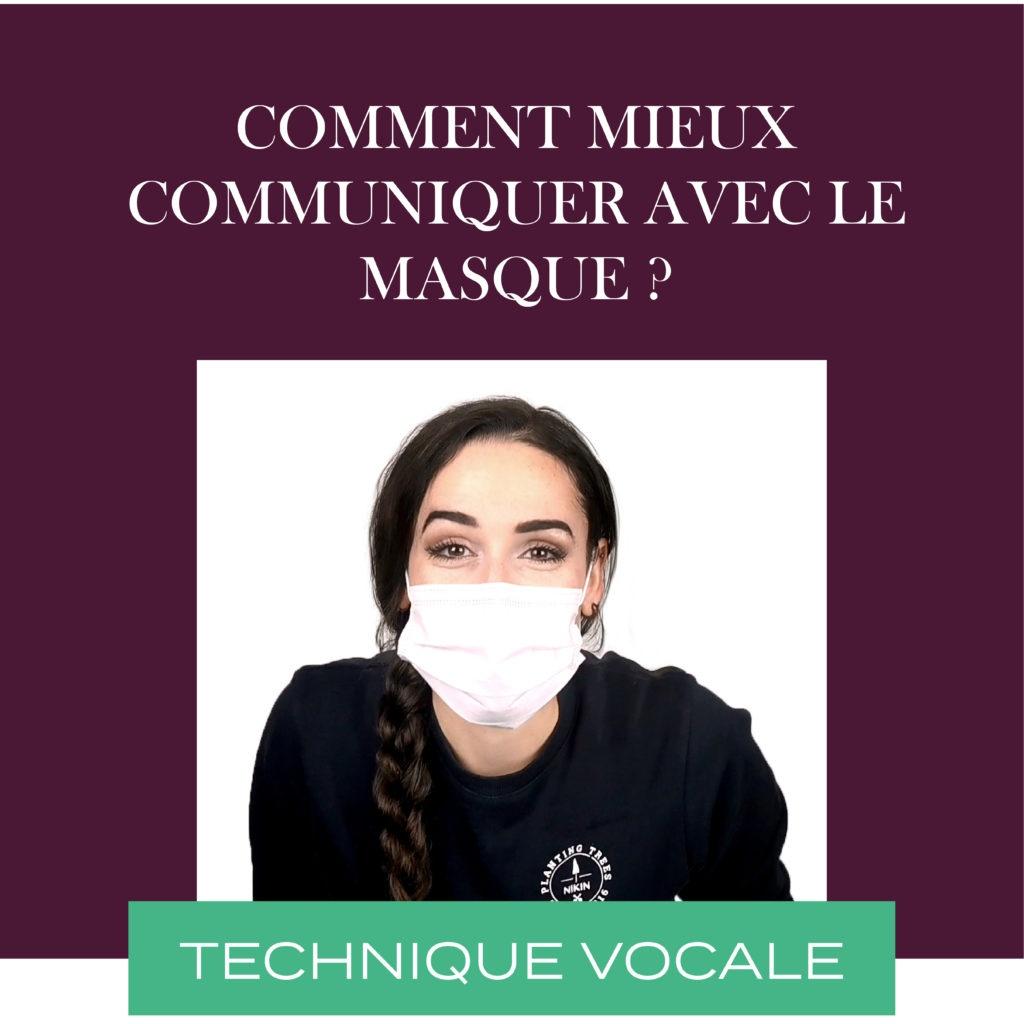 communiquer avec le masque